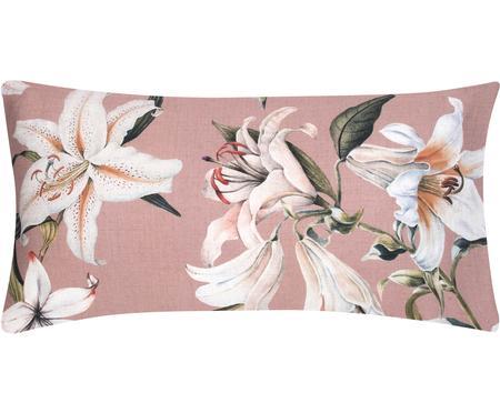 Obliečka na vankúš z bavlneného saténu s kvetinovou potlačou Flori, 2 ks