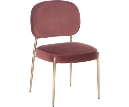 Zamatová čalúnená stolička Viggo