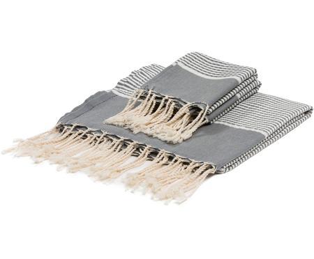 Súprava ľahkých uterákov s lurexovým lemom Copenhague, 3diely