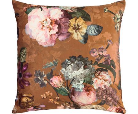 Zamatový vankúš s kvetinovým vzorom Fleur