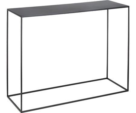Kovový konzolový stolík Tensio, čierna