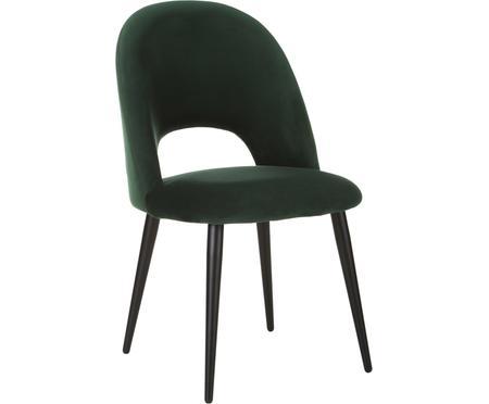 Zamatová čalúnená stolička Rachel