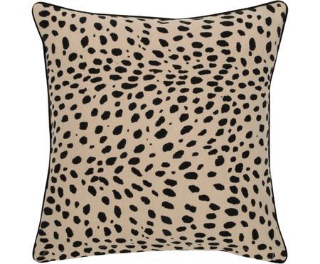 Poťah na vankúš s čiernym lemom Leopard