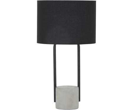 Veľká stolová lampa s betónovým podstavcom Pipero