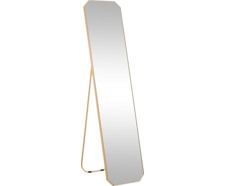 Stojacie zrkadlo so zlatým rámom Bavado