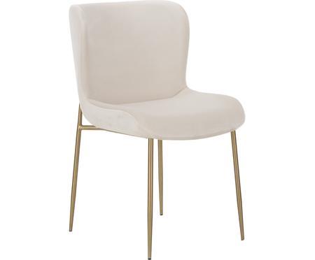 Zamatová čalúnená stolička Tess
