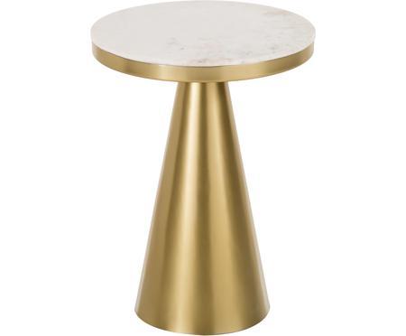 Okrúhly mramorový pomocný stolík Zelda