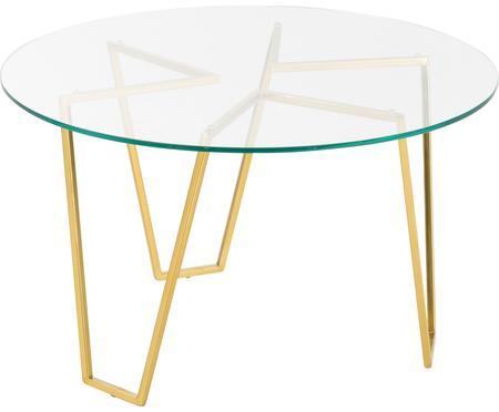 Okrúhly konferenčný stolík so sklenenou doskou Scarlett