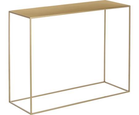 Kovový konzolový stolík v mosadzných odtieňoch Tensio