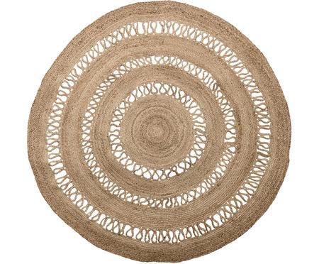 Okrúhly koberec z juty v boho štýle Benita