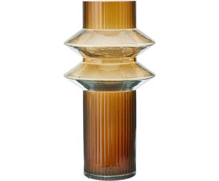 Prehľadná sklenená váza s jantárovým odtieňom Rilla