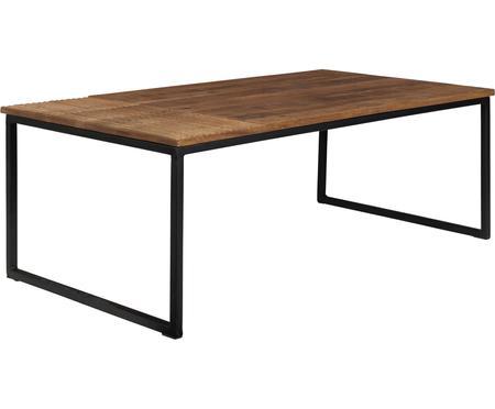 Konferenčný stolík z masívu v industriálnom dizajne Randi