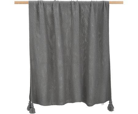 Ľahká štrikovaná deka so strapcami Lisette