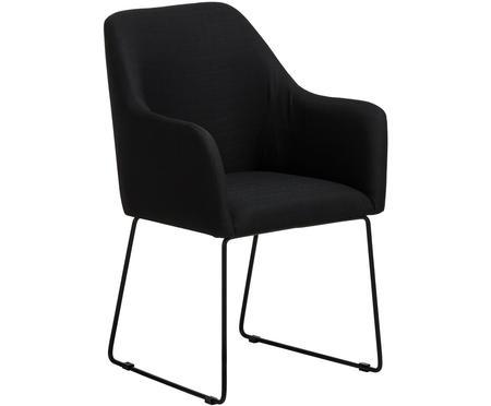 Čalúnená stolička s opierkami Isla