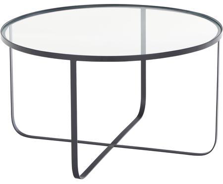Kovový konferenčný stolík so sklenenou doskou Harper