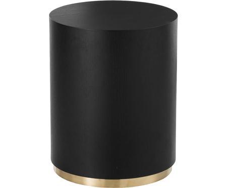 Pomocný stolík v čiernej farbe Clarice