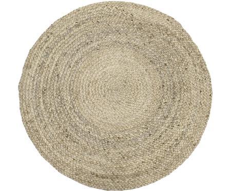 Okrúhly ručne vyrobený jutový koberec Sharmila