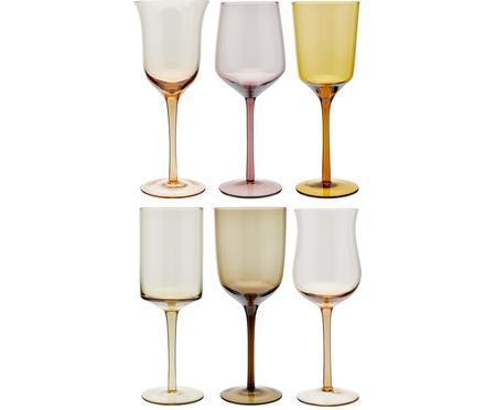 Súprava ručne fúkaných pohárov na červené víno Desigual, 6 dielov