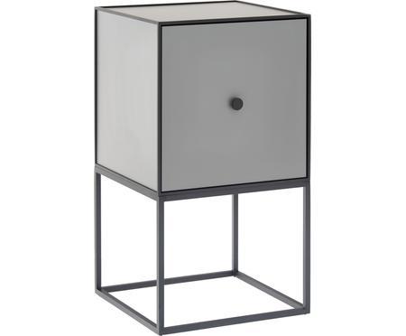 Sivý nočný stolík Frame