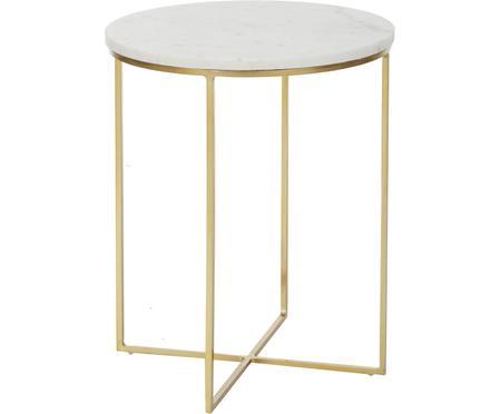Okrúhly mramorový pomocný stolík Alys