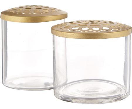 Súprava XS váz s kovovým vrchnákom Kastanje, 2 diely