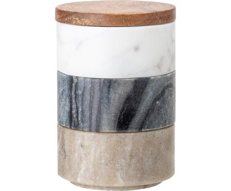 Súprava skladovacích dóz z mramoru Gatherings, Ø 8 x V 12 cm, 3 diely