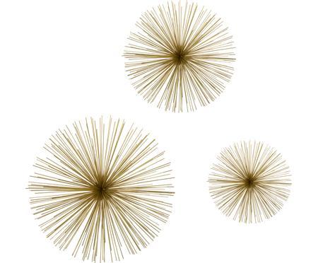 Súprava nástenných dekorácií z kovu Ray, 3 diely