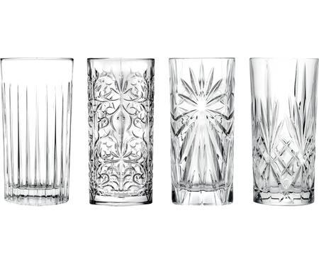 Súprava krištáľových pohárov na longdrinky Bichiera, 4 diely