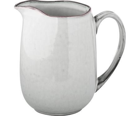 Ručne vyrobený džbán na mlieko z kameniny Nordic Sand, 1 l