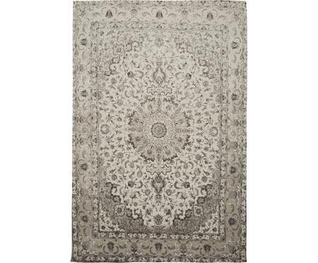 Ručne tkaný ženilkový koberec v štýle vintage Sofia, béžová-sivá