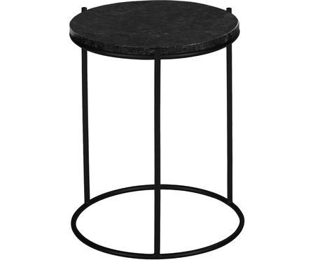 Okrúhly mramorový pomocný stolík Ella