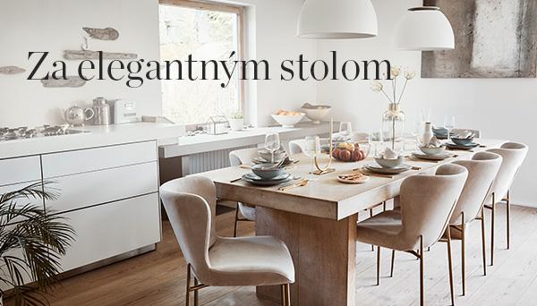 Za elegantným stolom